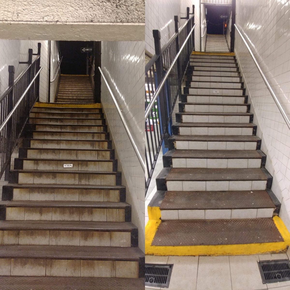 subway stairwell